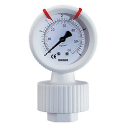 teflon diaphragm pressure gauges