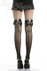 Skull With Bows Backseam Thigh High Stockings -3006BSK