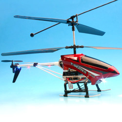 three channel metal helicopters