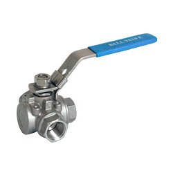 three way t 316 ball valve