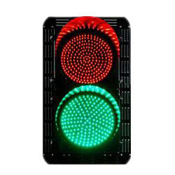 traffic lights - red green - round