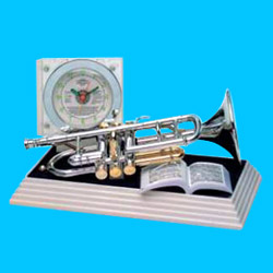 trumpet alarm clocks