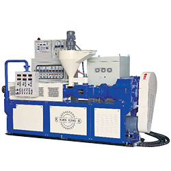 twin screw pvc profile extruder