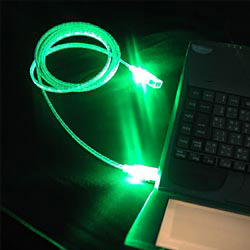 usb lighted cable assemblies