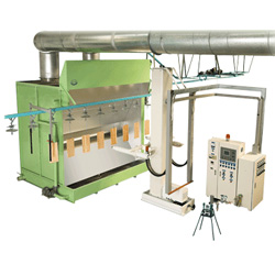 vertical bell electrostatic painting machine