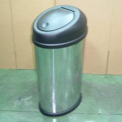vertical oval touch bin
