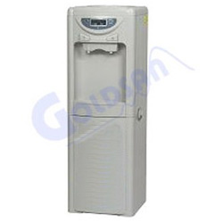 vertical pipe hot and cold drinking fountain