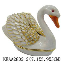 white swan jewelry box