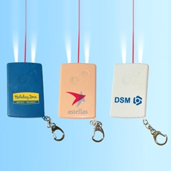 wide laser pointer cards with key chain