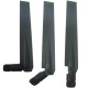 Triple/Dual Bands Wifi Rubber Antennas For 2.4ghz + 5ghz With Swivel SMA(m)