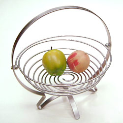 wire foldable round fruit basket
