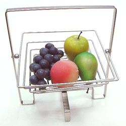 wire foldable square fruit basket