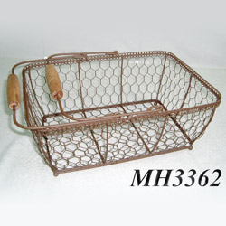 wire oblong basket