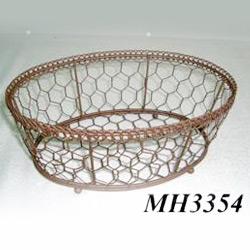 wire oval basket
