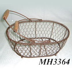wire oval baskets