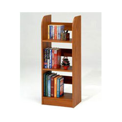 wood bookshelves