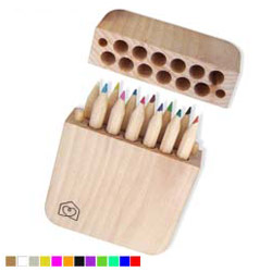 wooden pencil in the square shape wooden boxes