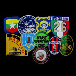 woven patch and badges