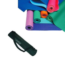 yoga mats and net bags